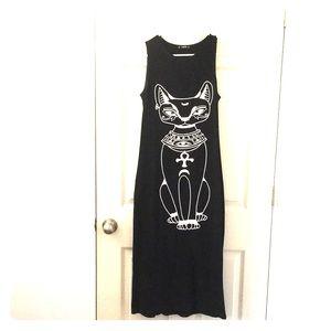 Witchy Shein Bastet Egyptian Maxi Dress